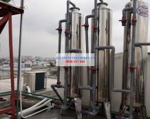 Bộ lọc nước 03 trụ inox d300 ở Tân Tạo