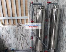 Bộ lọc nước máy ở Chợ Hưng Long, Bình Chánh