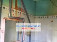 Bộ xử lý nước giếng khoan ở Bình Điền 1, Đức Hòa Hạ