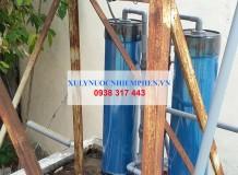 Lắp đặt bộ lọc nước giếng khoan ngã ba chùa