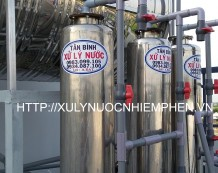 Hệ thống lọc nước giếng khoan 3 cột inox 250
