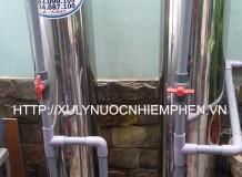 Hệ thống xử lý nước nhiễm phèn cột Inox 220