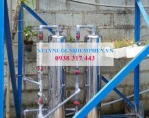Lọc nước giếng khoan ở Đức Hòa, Long An