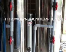 Xử lý nước giếng khoan cột inox 450