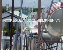 Xử lý nước giếng khoan ở đường Phan Văn Hớn, Hóc Môn