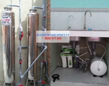 Xử lý nước giếng ở TT Hậu Nghĩa, Đức Hòa, Long An