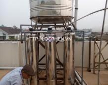 Công trình lọc nước phèn giếng khoan tại Quận Gò Vấp, HCM