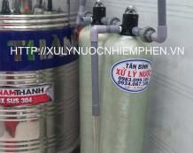 Xử lý nước máy ở KDC Nam Hùng Vương, Quận 6