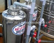 Lọc nước giếng khoan ở KDC Hoàng Gia, Long An