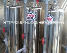 Xử lý nước nhiễm phèn tại chợ An Sương, Quận 12