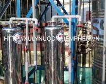Thiết bị lọc nước máy cột inox 220