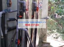 Xử lý nước nhiễm phèn ở UBND xã Chà Là, Tây Ninh