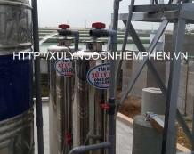 Xử lý nước phèn tại đường Trịnh Thị Miếng, Hóc Môn