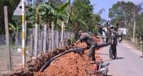 Xây dựng hệ thống nước sạch về làng