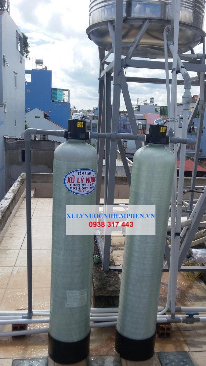 Lắp đặt bộ lọc nước máy nhiễm mangan