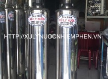 Hệ thống lọc nước nhiễm phèn 3 trụ inox 250 sử dụng van ba ngã